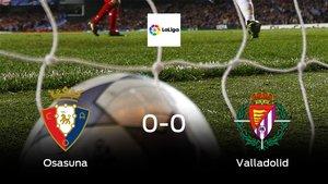 El Real Valladolid saca un punto al Osasuna a domicilio (0-0)