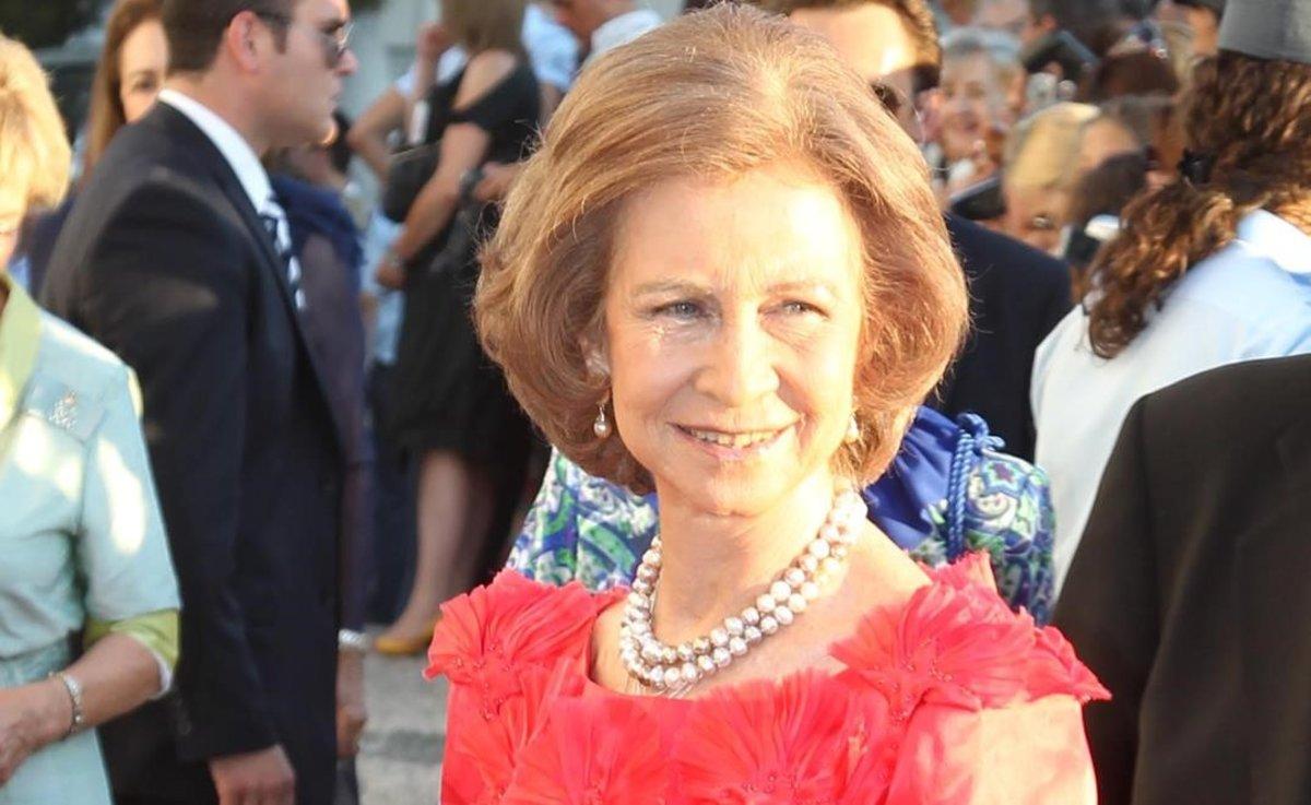 La reina Sofía, en una boda en el 2010.
