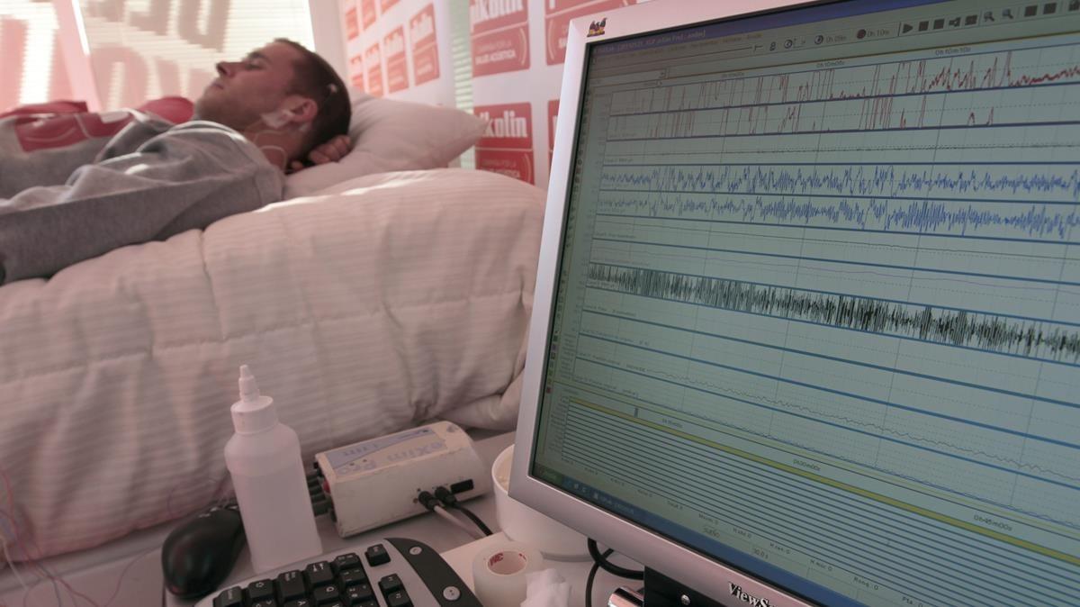 Un paciente en un hospital.