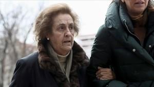 Teresa Rivero, en su llegada a la Audiencia Provincial de Madrid.