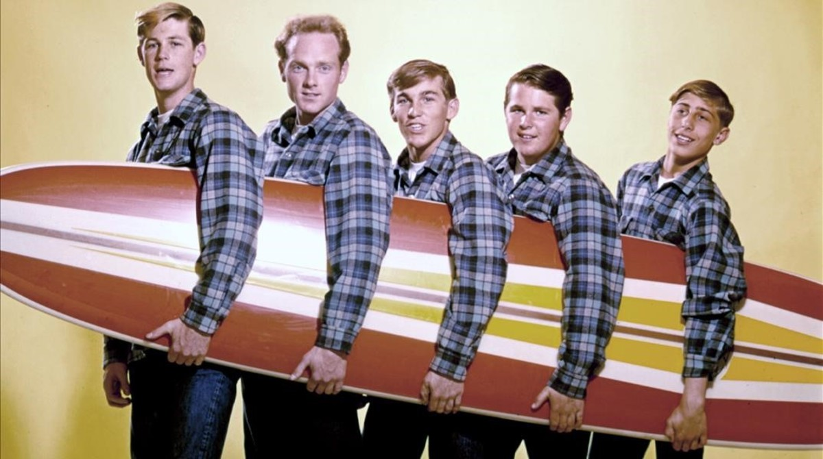 Los Beach Boys, en 1962. David Marks es el primero por la derecha.
