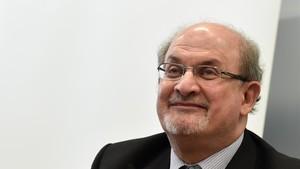 Salman Rushdie, en la presentación de su libro el mes pasado, en la Feria del Libro de Fráncfort.