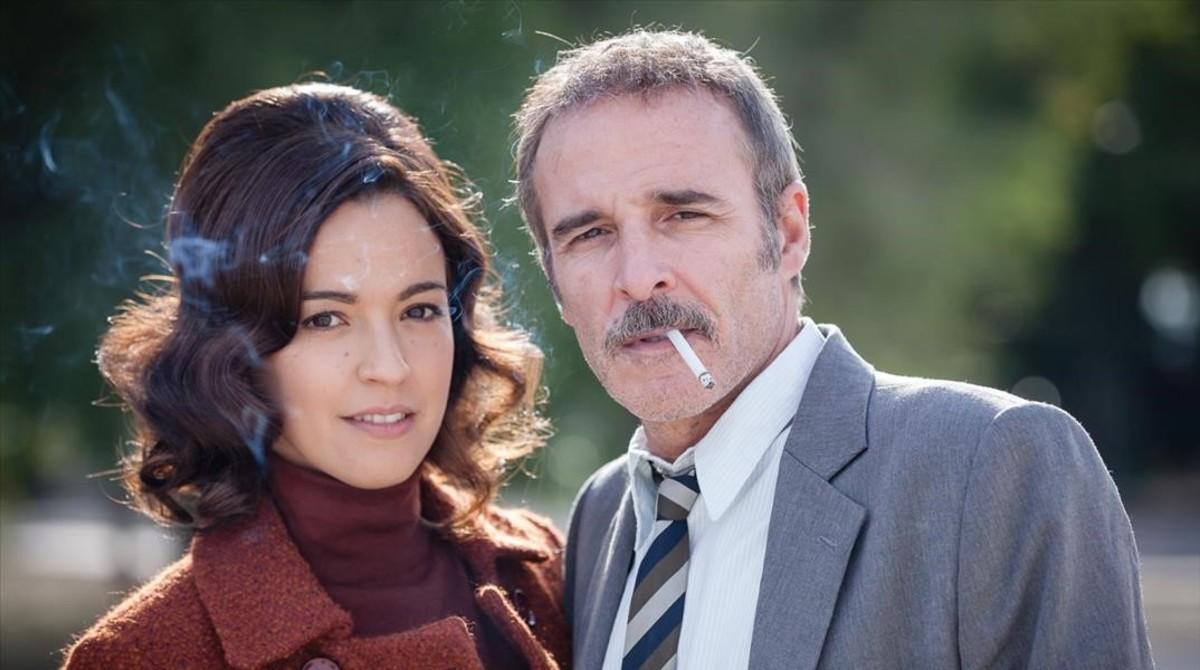 Fernando Guillen Cuervo y Veronica Sanchez, protagonistas de la serie de TVE 'El Caso. Crónica de sucesos'.