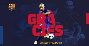 Mascherano s'acomiada del Barça rumb a la Xina