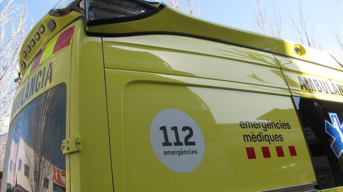 Ambulancia del Sistema d'Emergències Mèdiques (SEM).