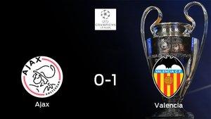 El Valencia gana 0-1 en el estadio del Ajax