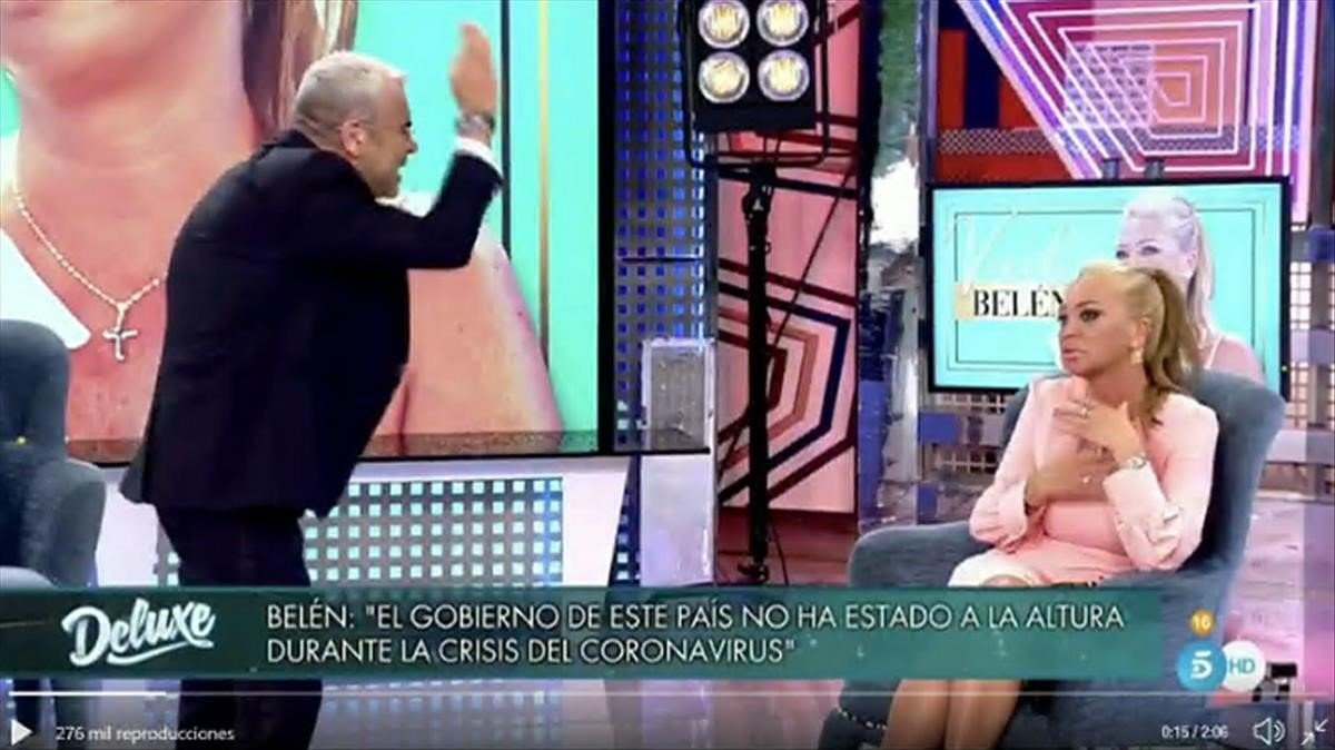J.J. Vázquez y Belén Esteban, en 'Deluxe' (T5)