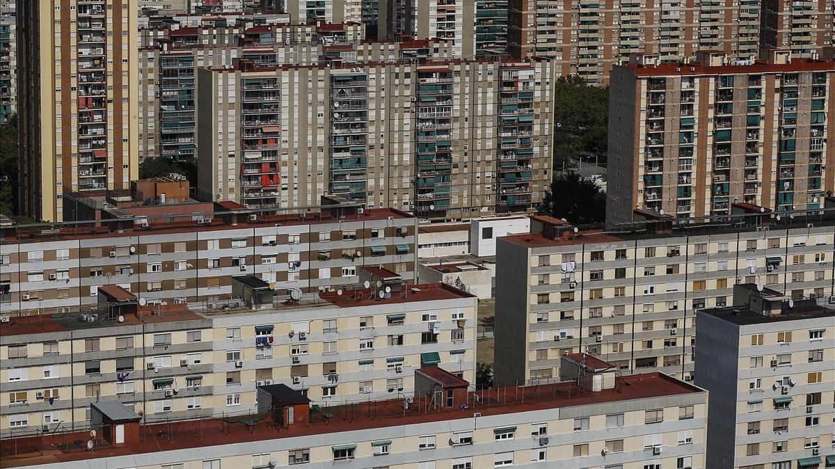 El barrio de Bellvitge, ubicado en L'Hospitalet de Llobregat, fue construido en 1965 sin criterios de eficiencia energética.