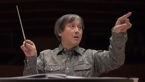 Kazusho Ono, durante un ensayo con la OBC.