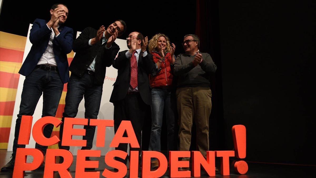 """Sánchez veu opcions de victòria per a Iceta: """"Es respira un esperit de remuntada"""""""