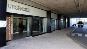 Acceso al servicio de Urgencias del Hospital de Sant Joan de Reus.