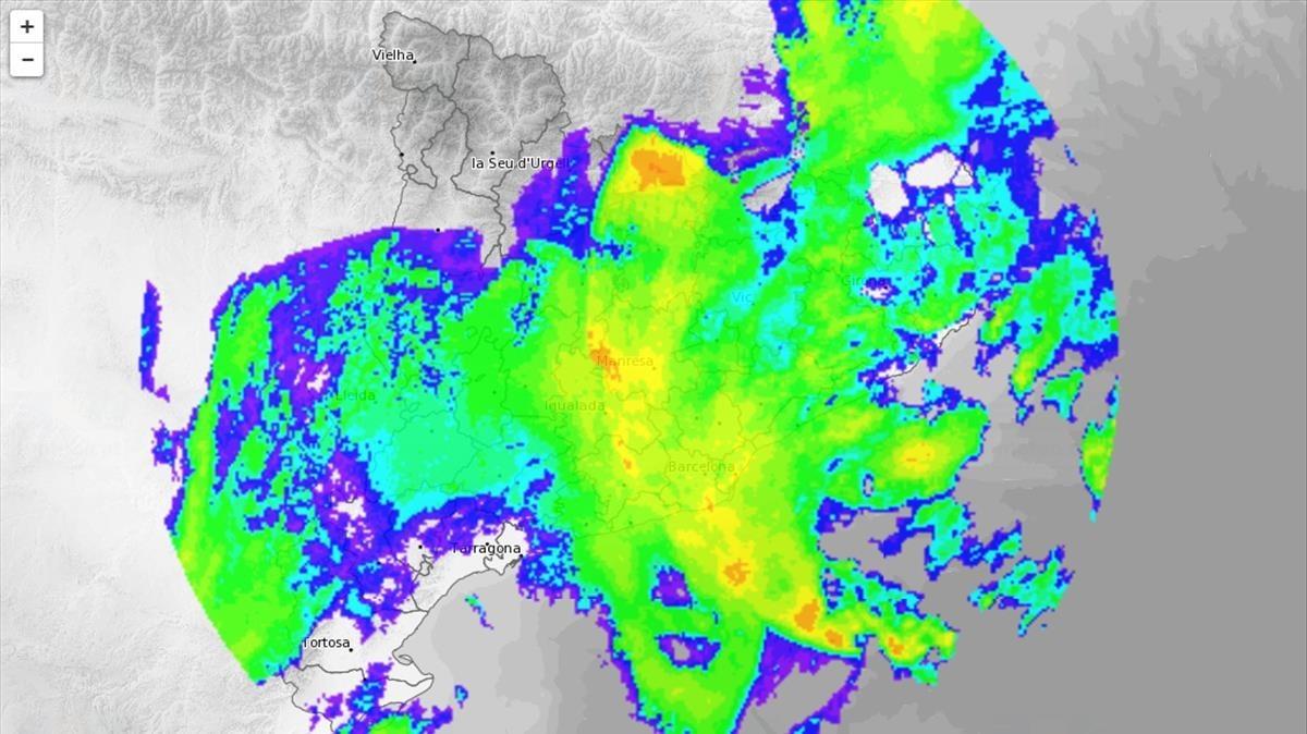 Mapa del Servei Meteorologic de Catalunya a las 10.24 horas.