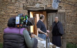 Rodaje de la serie 'El pueblo', en la aldea soriana de Valdelavilla.