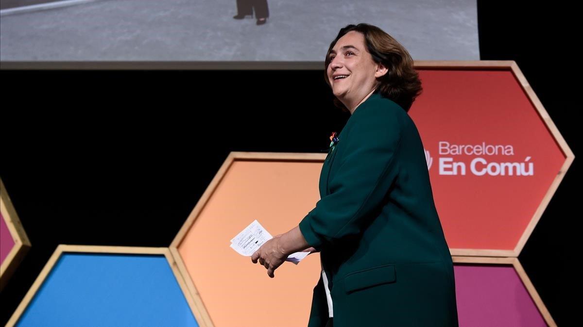 Ada Colau, tras conocer los resultados de las elecciones que la han dejado sin la alcaldía.