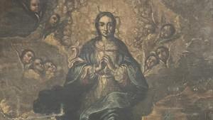 Inmaculada pintura del siglo XVIII proveniente de Sijena