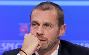 El presidente de la UEFA Aleksander Ceferin.