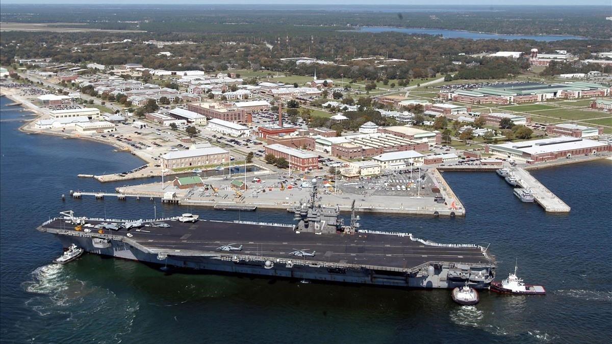 La base de la Marina de EEUU enPensacola (Florida)