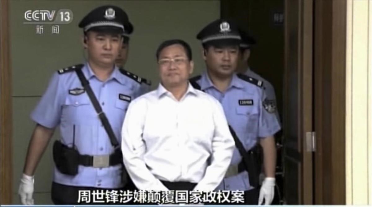 El abogado Zhou Shifeng llega al tribunal de Tianjun que le ha condenado a siete años de prisión.