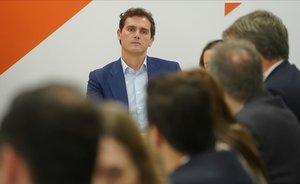 Albert Rivera, en la reunión del comité permanente de Ciudadanos.
