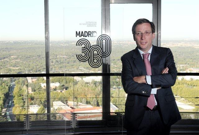 El alcalde de Madrid, José Luis Martínez-Almeida presentando su plan de Madrid 360.