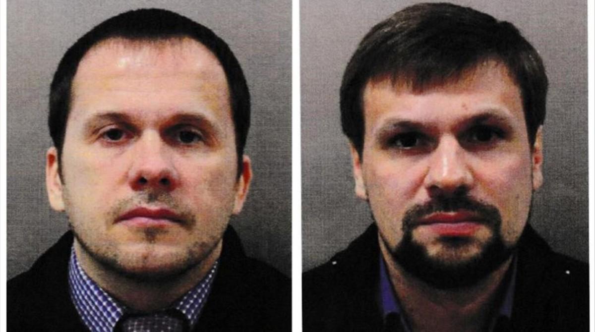 Alexander Petrov y Ruslan Boshirov, acusados de envenenar al exespía ruso Sergei Skripal y a su hija.