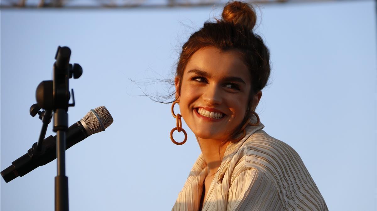 Amaia, en su actuación en el Primavera Sound