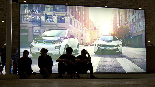 Ambiente en el Salón del Automóvil de Pekín.
