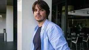 Andrés Goteira, tras la presentación de Dhogs en Sitges.