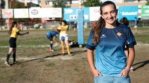 Anna Puig, jugadora de la UE Santboiana y campeona de Europa con la selección española femenina de rugby.
