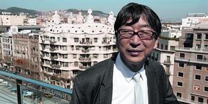 El arquitecto Toyo Ito, en el año 2009, en la inauguración de su edificio, el Hotel Suites Avenue, en el Paseo de Gracia, frente a la Pedrera.