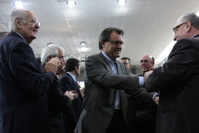 Artur Mas, en Manresa, esta mañana.
