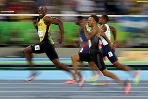 Bolt, durantla semifinal de 100 metres, aquesta matinada.