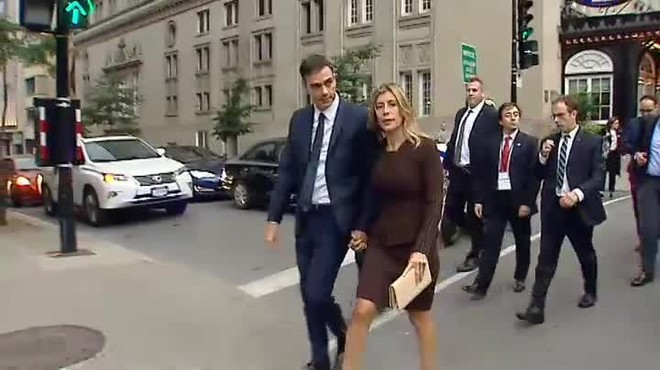 La esposa de Pedro Sánchez acudirá a una recepción de Melania Trump en Nueva York.