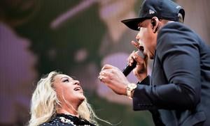 Beyoncé y Jay-Z, durante un concierto en Cleveland, en el 2016.