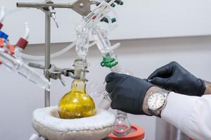 Actividad en un laboratorio.