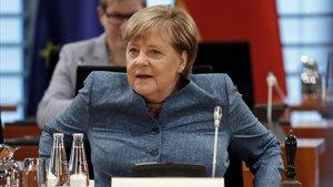La cancillera alemana, Angela Merkel, en una reunión del Gabinete en Berlín este miércoles.