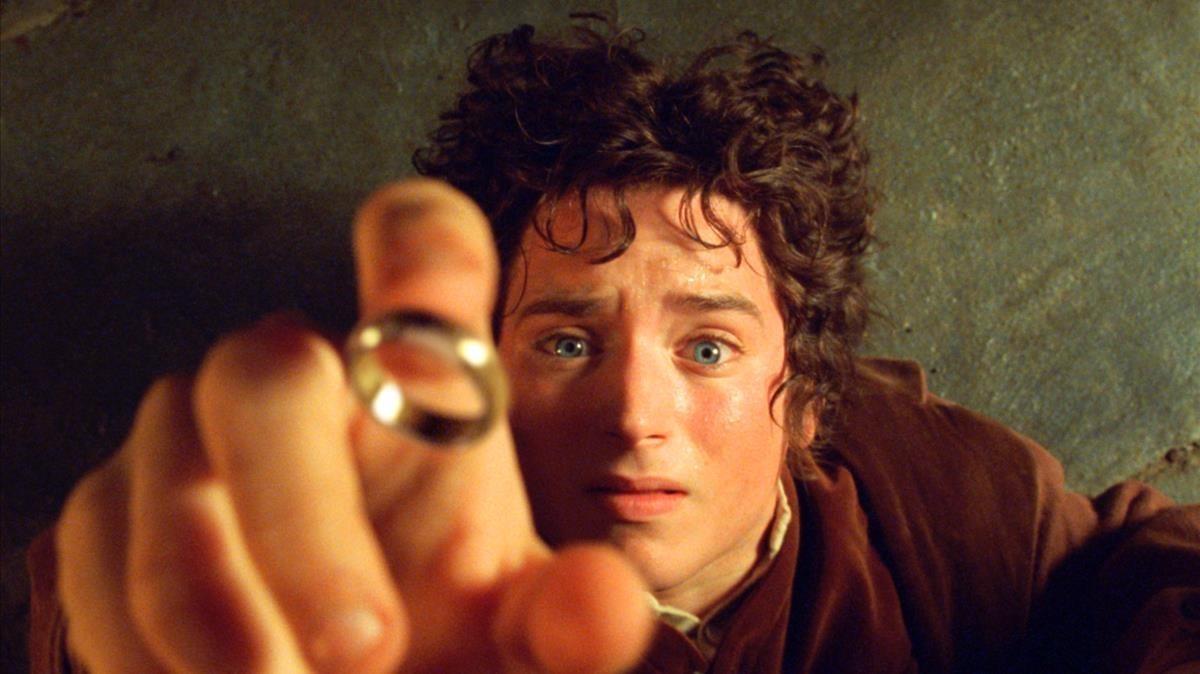 El actor Elijah Wood, como Frodo, en la película El señor de los anillos.