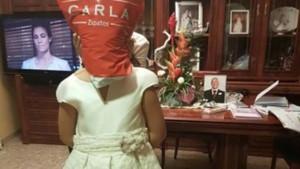 Wallapop i la nena del vestit de comunió amb una bossa al cap