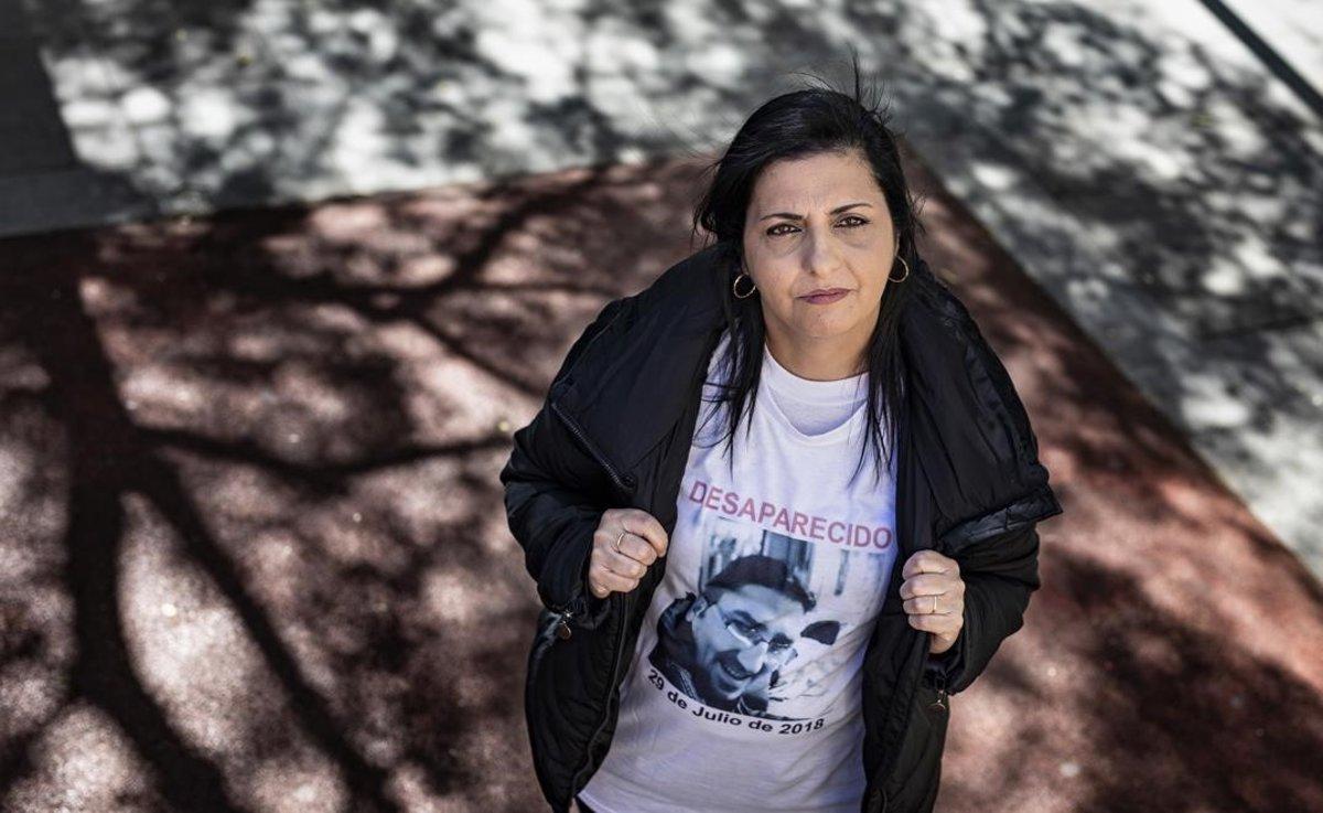 Conchi González, hermana de Oscar González, desaparecido el año pasado en Santa Coloma.