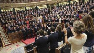 Imagen del acto de conmemoracion del 40º aniversario de la Constitución.