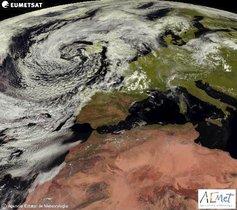 Imagen satelital de laAgencia Estatal de Meteorología.
