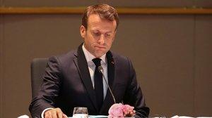 Emmanuel Macron durante la última cumbre europea.