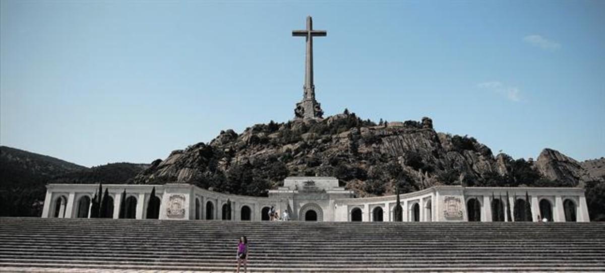 Entrada al Valle de los Caídos, en San Lorenzo de El Escorial.
