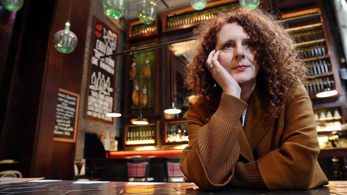 La escritora irlandesa Maggie O'Farrell, en su visita a Barcelona.