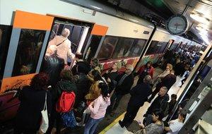 Estación de Catalunya de la red de Rodalies, de Renfe, en una imagen del pasado noviembre.