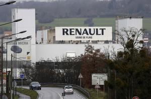 Fábrica de Renault en la localidad francesa de Aubergenville, esta semana.