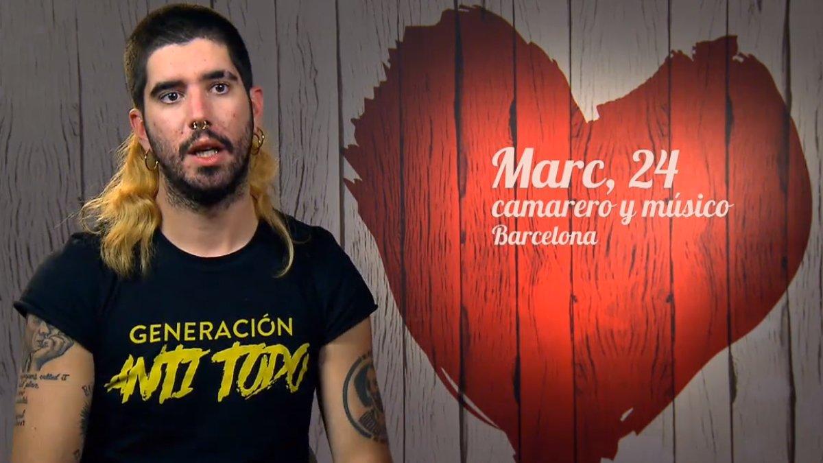 Marc, nieto de Antoni Tàpies, en First dates.
