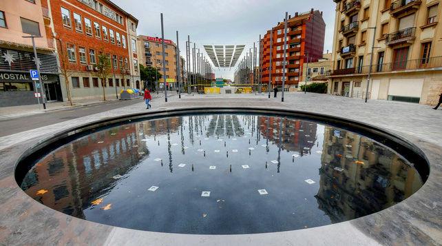 Nueva fuente ornamental de la plaza de Sants.