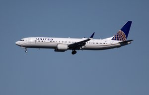 BURLINGAME, CALIFORNIA - MARCH 13: A United Airlines Boeing 737 Max 9 aircraft lands at San Francisco International Airport on March 13, 2019 in Burlingame, California. The United States has followed countries around the world and has grounded all Boeing 737 Max aircraft following a crash of an Ethiopia Airlines 737 Max 8. Justin Sullivan/Getty Images/AFP