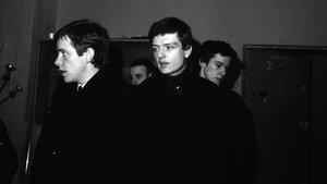 Los integrantes de Joy Division, en Berlín, en enero de 1980.